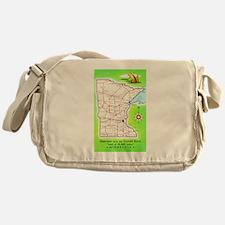 Minnesota Map Greetings Messenger Bag