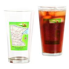 Minnesota Map Greetings Drinking Glass