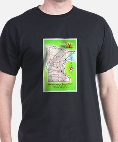 Minnesota Map Greetings T-Shirt