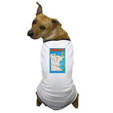 Minnesota Map Greetings Dog T-Shirt