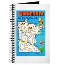 Minnesota Map Greetings Journal