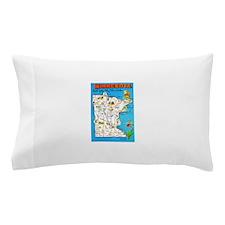 Minnesota Map Greetings Pillow Case