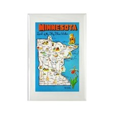 Minnesota Map Greetings Rectangle Magnet (10 pack)