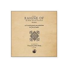 "King Edward III (1596) Square Sticker 3"" x 3&"