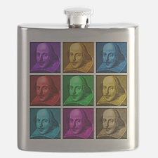 Shakespeare Pop Art Flask