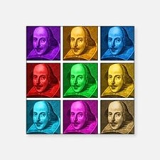 "Shakespeare Pop Art Square Sticker 3"" x 3"""