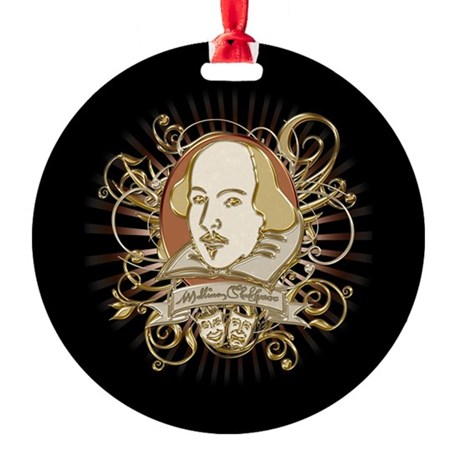 Shakespeare Crest Round Ornament