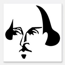 "shakespeare-simple.png Square Car Magnet 3"" x 3"""