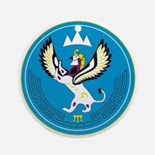 Altai Coat of Arms Ornament (Round)