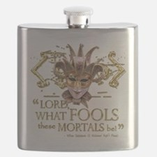 Shakespeare Fools Quote Flask