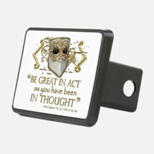 Shakespeare Great In Thought Quote Hitch Cover