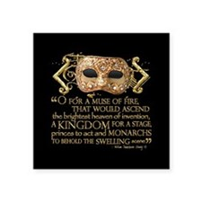 """Henry V Quote Square Sticker 3"""" x 3"""""""