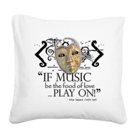 twelfth night.png Square Canvas Pillow