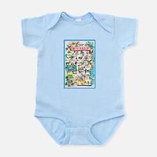 Wisconsin Map Greetings Infant Bodysuit