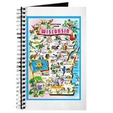 Wisconsin Map Greetings Journal