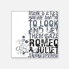 """romeoandjuliet-1-grey.png Square Sticker 3"""" x 3"""""""