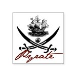"pirate1-light.png Square Sticker 3"" x 3"""