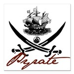 "pirate1-light.png Square Car Magnet 3"" x 3"""