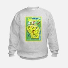 Wisconsin Map Greetings Sweatshirt