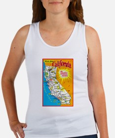 California Map Greetings Women's Tank Top
