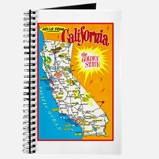 California Map Greetings Journal