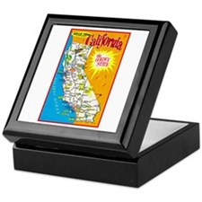 California Map Greetings Keepsake Box