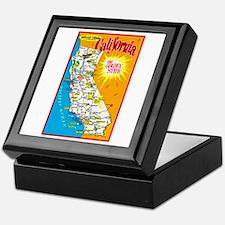 California Map Greetings Keepsake Box