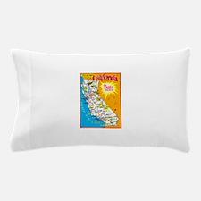 California Map Greetings Pillow Case