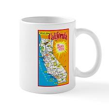 California Map Greetings Mug