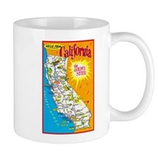 California Map Greetings Mug