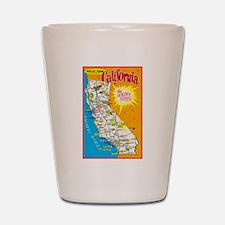 California Map Greetings Shot Glass