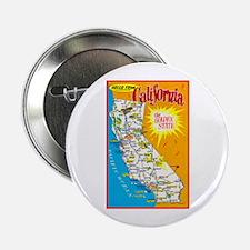 "California Map Greetings 2.25"" Button"