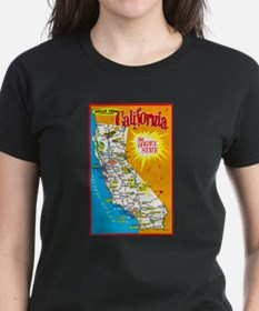 California Map Greetings Tee
