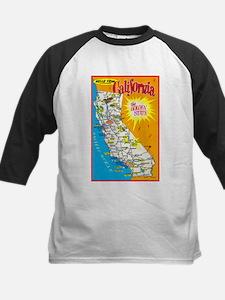 California Map Greetings Tee