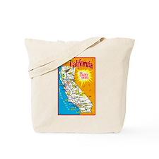 California Map Greetings Tote Bag