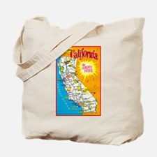 California Map Greetings Tote Bag