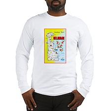 Delaware Map Greetings Long Sleeve T-Shirt