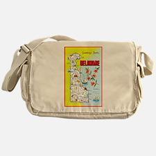 Delaware Map Greetings Messenger Bag