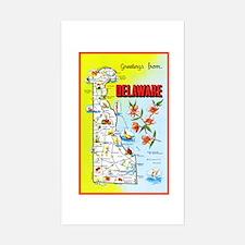 Delaware Map Greetings Decal