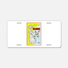 Delaware Map Greetings Aluminum License Plate