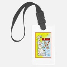 Delaware Map Greetings Luggage Tag