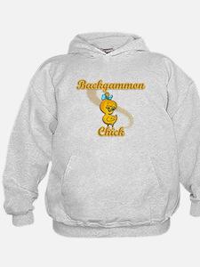 Backgammon Chick #2 Hoodie