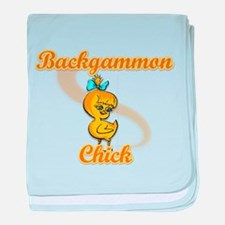 Backgammon Chick #2 baby blanket
