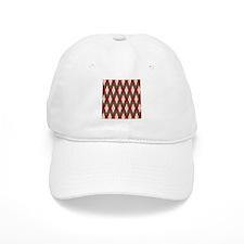 Argyle Red Gray Baseball Cap
