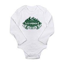 Steamboat Mountain Emblem Long Sleeve Infant Bodys