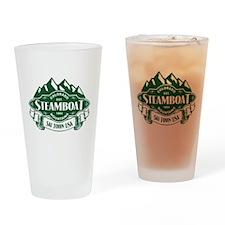Steamboat Mountain Emblem Drinking Glass