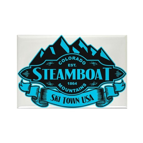 Steamboat Mountain Emblem Rectangle Magnet