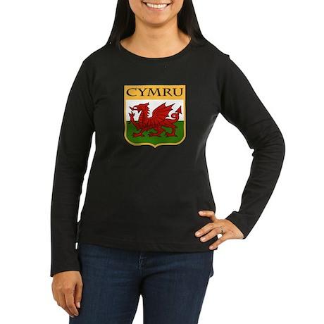 Wales Coat of Arms Women's Long Sleeve Dark T-Shir