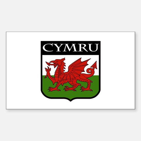 Wales Coat of Arms Sticker (Rectangle)