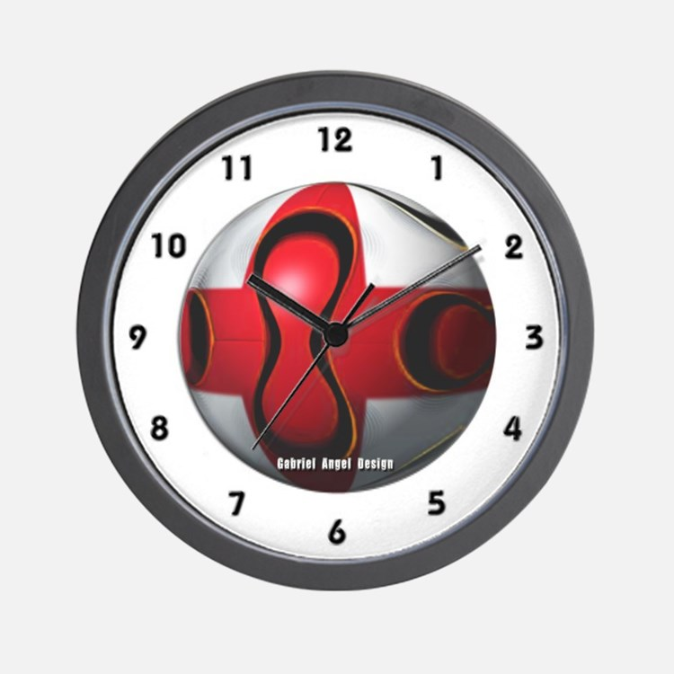 England Soccer Wall Clock
